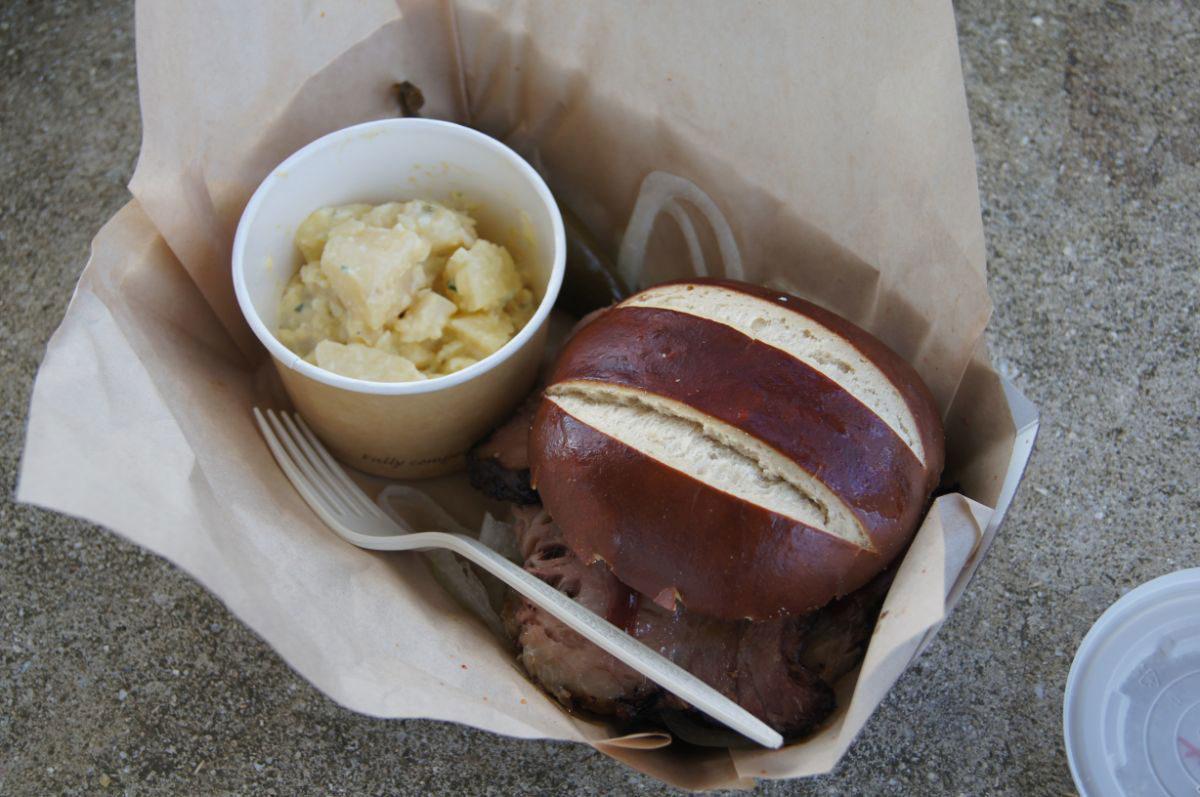 ハンバーガーみたいなサンドイッチ