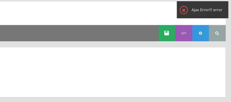 Ajax error!!error